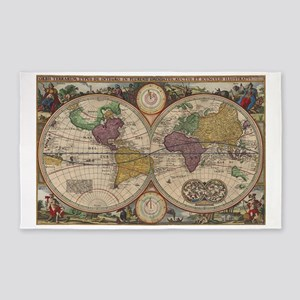 World Map 1657 3'x5' Area Rug
