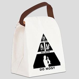 Ferret-Petting-11-A Canvas Lunch Bag