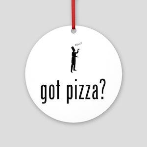 Pizza-Making-02-A Round Ornament