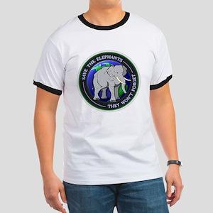 Save The Elephants White T-Shirts T-Shirt