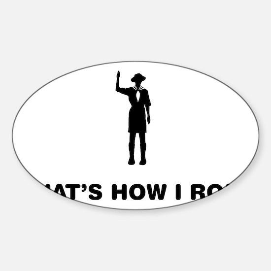 Boy-Scout-12-A Sticker (Oval)