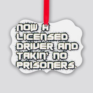 Now a licensed driver and takin'  Picture Ornament