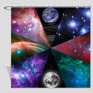 Astronomy Collage Shower Curtain
