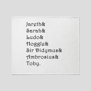 Labyrinth Names Throw Blanket