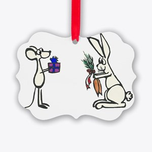 Mouse and Rabbit Picture Ornament