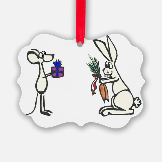 Mouse and Rabbit Ornament