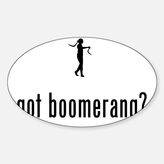 Boomerang-02-A Sticker (Oval)