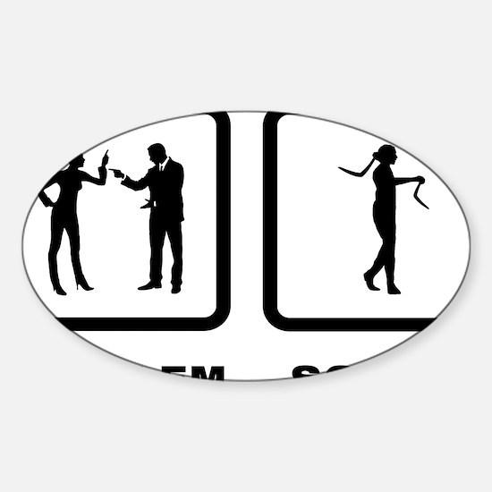 Boomerang-10-A Sticker (Oval)