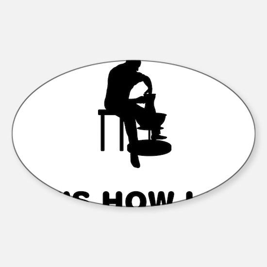 Pottery-12-A Sticker (Oval)
