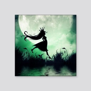 """Enchanted-Silhouette-Prince Square Sticker 3"""" x 3"""""""