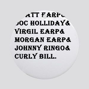 Tombstone Names Round Ornament