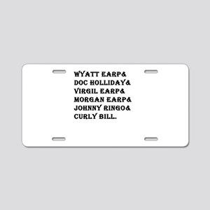 Tombstone Names Aluminum License Plate