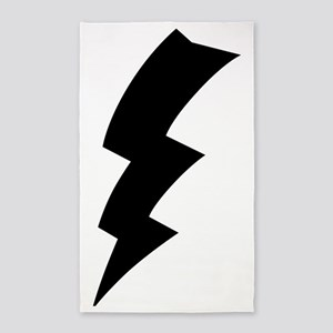 CB Lightning Bolt T-Shirt 3'x5' Area Rug