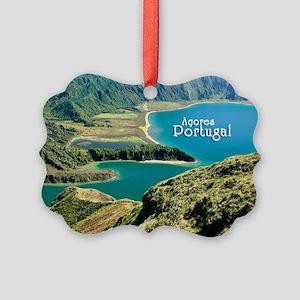 Lagoa do Fogo Picture Ornament