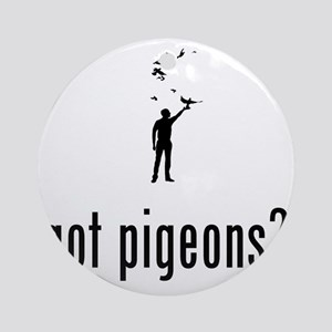 Pigeon-Racer-02-A Round Ornament