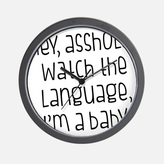 Watch The Language Wall Clock