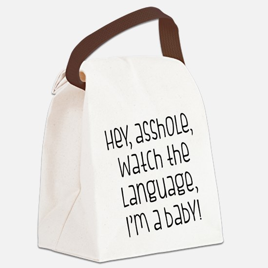 Watch The Language Canvas Lunch Bag
