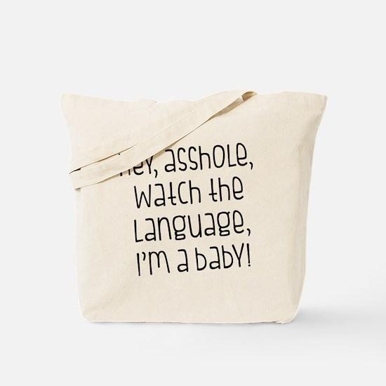 Watch The Language Tote Bag