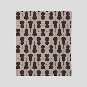 Cello Pattern Throw Blanket
