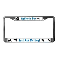 Agility is Fun JAMD License Plate Frame