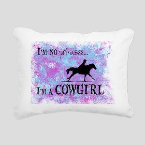 I'm no princess, I'm a C Rectangular Canvas Pillow