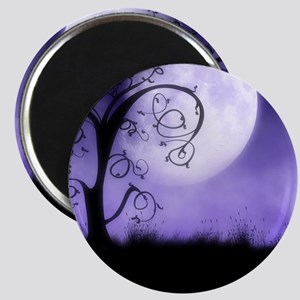Enchanted-Silhouette-Tree-Purple Magnet