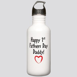 Happy 1st Fathers Day  Stainless Water Bottle 1.0L