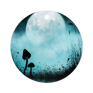 Image result for mushroom silhouette against the moon