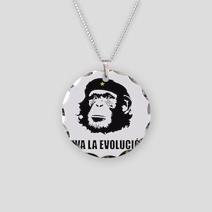 Viva La Evolucion Design Necklace Circle Charm
