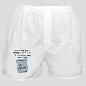 pharmacist STUPID Boxer Shorts