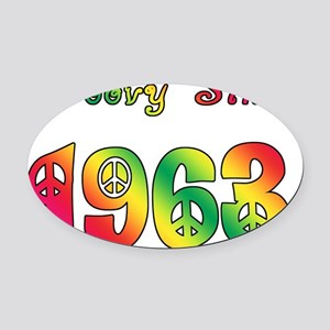 Groovy Since 1963 Oval Car Magnet