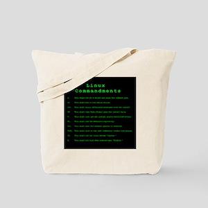 Linux Commandments Tote Bag