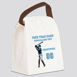 Baseball Canvas Lunch Bag