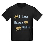 I Love Rescue Mutts Kids Dark T-Shirt