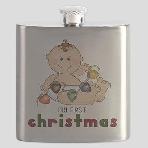 First Christmas (Boy Design 2) Flask