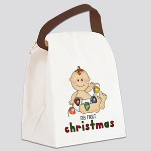 First Christmas (Boy Design 2) Canvas Lunch Bag