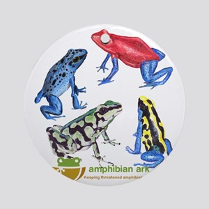 Poison Frogs Round Ornament
