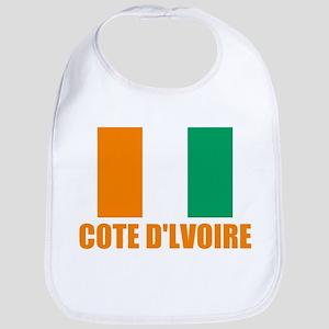 Cote D'lvoire Flag Bib