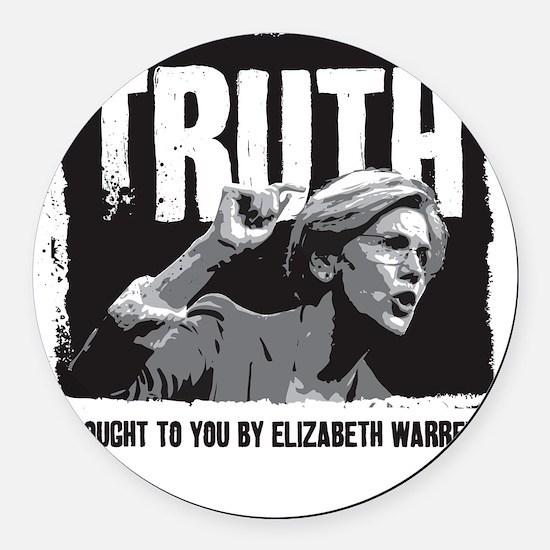 Truth by Elizabeth Warren Round Car Magnet