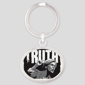 Truth by Elizabeth Warren Oval Keychain
