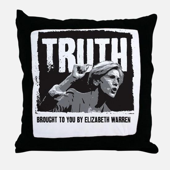 Truth by Elizabeth Warren Throw Pillow
