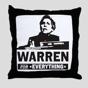 Elizabeth Warren for Everything Throw Pillow