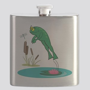 Whimsical Leaping Frog Flask