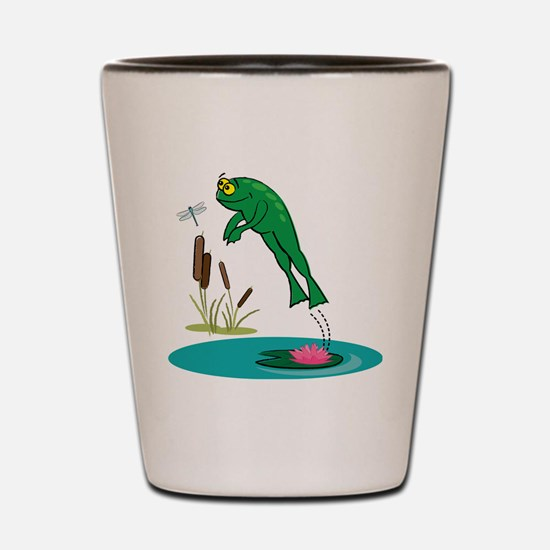 Whimsical Leaping Frog Shot Glass