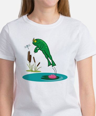 Whimsical Leaping Frog Women's T-Shirt