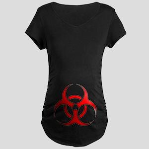 biohazard enhanced 3600 no background Maternity T-