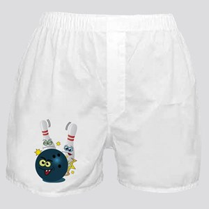 Bowling Ball and Pins Boxer Shorts