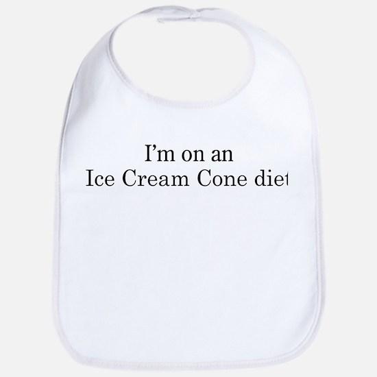 Ice Cream Cone diet Bib