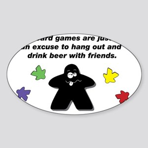 Meeple Text Sticker (Oval)
