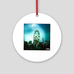 Roo Ferris Wheel Round Ornament